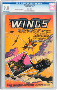 Wings Comics #72 (Fiction House, 1946) CGC NM/MT 9.8 White pages