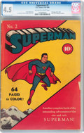 Golden Age (1938-1955):Superhero, Superman #2 (DC, 1939) CGC VG+ 4.5 Off-white to white pages....