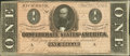 Confederate Notes:1864 Issues, T71 $1 1864 PF-7.. ...