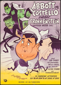 "Abbott and Costello Meet Frankenstein (Universal International, 1950). Danish Poster (24.25"" X 33.5""). Horror..."