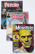 Magazines:Horror, Miscellaneous Horror Magazines Group of 8 (Various Publishers, 1960s).... (Total: 8 Comic Books)