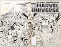 Original Comic Art:Covers, Keith Pollard and Joe Rubinstein Official Handbook of the Marvel Universe Deluxe Edition #20 Wrap-Around Cover Ori...