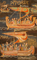 Fine Art - Painting, American:Contemporary   (1950 to present)  , Agnes Sims (American, 1910-1990). Bayeux Tapestry. Oil onboard. 48 x 29-3/4 inches (121.9 x 75.6 cm). Signed lower left...