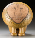 Ceramics & Porcelain, British:Contemporary   (1950 to present)  , Lisa Larson (Swedish, b. 1931). Large Lion, 1965,Gustavsberg. Glazed ceramic. 15-1/2 x 14-1/2 x 13-1/2 inches(39.4...