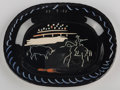 Post-War & Contemporary:Contemporary, Pablo Picasso (1881-1973). Corrida sur fond noir, 1953.Glazed ceramic plate. 15-1/4 inches (38.7 cm) width. From an edi...