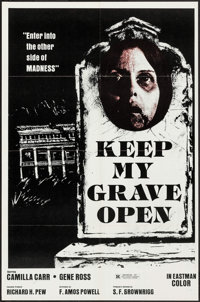 """Keep My Grave Open & Other Lot (Flora, 1976). One Sheets (45) (25"""" X 38"""" & 27"""" X 41""""). Horro..."""