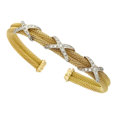 Estate Jewelry:Bracelets, Diamond, Gold, White Gold Bracelet. ...