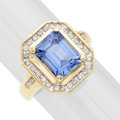 Estate Jewelry:Rings, Synthetic Sapphire, Diamond, Gold Ring. ...