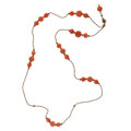 Estate Jewelry:Necklaces, Antique Coral, Seed Pearl Necklace. ...