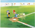 "Animation Art:Limited Edition Cel, ""Woody Gets a Hit"" Limited International Edition Hand Painted Cel#10/25 Original Art (Walter Lantz Productions, 1992). This...(Total: 3 Items)"