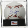 Autographs:Baseballs, Nolan Ryan Single Signed Baseball, PSA Mint+ 9.5. The manconsidered to be among the finest hurlers to play the game hasle...