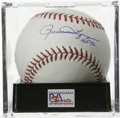 "Autographs:Baseballs, Rollie Fingers ""HOF 92"" Single Signed Baseball, PSA Mint+ 9.5.Mustachioed closer Rollie Fingers has left the sweet spot of..."