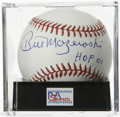 "Autographs:Baseballs, Bill Mazeroski ""HOF 01"" Single Signed Baseball, PSA Mint 9. PiratesHall of Famer Bill Mazeroski makes note of his Cooperst..."