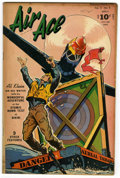 """Golden Age (1938-1955):War, Air Ace V3#8 Davis Crippen (""""D"""" Copy) pedigree (Street & Smith, 1947) Condition: VF. This issue is listed as V5#8 on the cov..."""