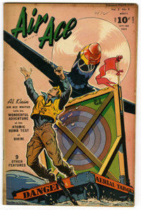 """Air Ace V3#8 Davis Crippen (""""D"""" Copy) pedigree (Street & Smith, 1947) Condition: VF. This issue is listed..."""