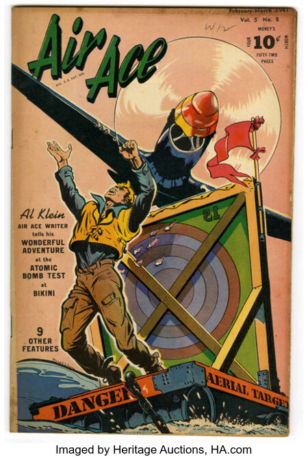 """Air Ace V3#8 Davis Crippen (""""D"""" Copy) pedigree (Street & Smith, 1947) Condition: VF. This issue is listed as V5#8 on the cov..."""