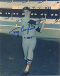 "Autographs:Photos, Tony Conigliaro Signed Photograph. Tremendous imagery dominates the8x10"" color print which has as its focus Red Sox star T..."