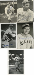 Autographs:Post Cards, Vintage Hall of Famers Signed Photographic Postcards Lot of 5. Eachof the five black and white photo postcards up for gra... (Total: 5items)