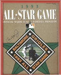 Autographs:Others, 1993 All-Star Game Program Signed By Cal Ripken, Jr. Perfectexample of a program from the 1993 All-Star game, played at th...
