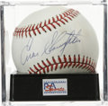 Autographs:Baseballs, Enos Slaughter Single Signed Baseball, PSA NM-MT+ 8.5. Withimpressive stats that include batting over .300 for 10 seasons,...