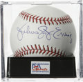 "Autographs:Baseballs, Julius Erving ""Dr. J"" Single Signed Baseball, PSA Mint 9. One ofbasketball's certified kings has checked in on the provide..."