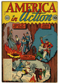 "Golden Age (1938-1955):Non-Fiction, America in Action #1 (1945) Davis Crippen (""D"" Copy) pedigree(Dell, 1945) Condition: VF-. Contains three adaptions from Ame..."
