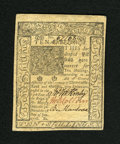 Colonial Notes:Delaware, Delaware January 1, 1776 10s Choice New. A lovely example of thiscommon Delaware issue that has bold signatures and serial ...