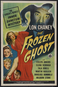 """The Frozen Ghost (Universal, 1944). One Sheet (27"""" X 41""""). Horror. Starring Lon Chaney, Jr., Evelyn Ankers, Mi..."""