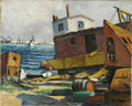 Texas:Early Texas Art - Impressionists, ROLLA TAYLOR (1871-1970). The Dredge Boat. Oil on canvas.16in. x 20in.. Signed lower right. Titled verso. Rolla Taylo...