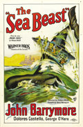 "Movie Posters:Action, The Sea Beast (Warner Brothers, 1926). One Sheet (27"" X 41"") StyleA. The Warner Brothers brought John Barrymore to the stud..."