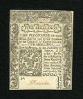 Colonial Notes:Connecticut, Connecticut June 19, 1776 Uncancelled 5s Very Choice New. Simply a superb gem note in every way from boldly detailed print q...