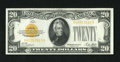 Small Size:Gold Certificates, Fr. 2402 $20 1928 Gold Certificate. Choice Crisp Uncirculated.. A couple of light bends are all that keep this bright and we...
