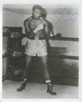 Boxing Collectibles:Autographs, Sugar Ray Robinson Signed Photograph. Known as one of the finestpugilists in the history of boxing, Sugar Ray Robinson has...