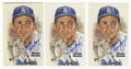 Autographs:Post Cards, Sandy Koufax Signed Perez-Steele Postcards Lot of 3. Three examplesof Sandy Koufax's desirable signature appear on each of... (Total:3 items)