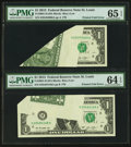 Error Notes:Major Errors, Fr. 3001-H $1 2013 Federal Reserve Notes. PMG Gem Uncirculated 65EPQ and Choice Uncirculated 64 EPQ.. ...