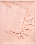 Paintings, Martin Kippenberger (1953-1997). Untitled I/III (Rosa), 1994. Dyed wood. 35-1/2 x 27-3/4 inches (90.2 x 70.5 cm). Signed...