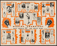 """World's Champions (Champs of Sports, 1947). Boxing Poster (22.5"""" X 28""""). Sports"""