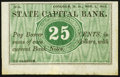 Obsoletes By State:New Hampshire, Concord, NH- State Capital Bank 25¢ Nov. 1, 1862 Remainder. ...