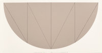 Robert Mangold (b. 1937) 1/2 Brown Curved Area, Series V, 1968 Screenprint in colors 12 x 24 inch