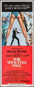 "Movie Posters:James Bond, For Your Eyes Only (United Artists, 1981). International Insert(14"" X 36""). James Bond.. ..."