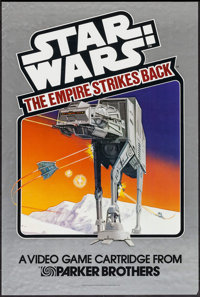"The Empire Strikes Back (Parker Brothers, 1982). Video Game Poster (24"" X 36""). Science Fiction"