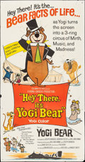 "Movie Posters:Animation, Hey There, It's Yogi Bear (Columbia, 1964). Three Sheet (40.5"" X 78""). Animation.. ..."