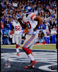 Football Collectibles:Photos, Victor Cruz Signed Oversized Photograph....