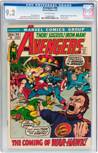 The Avengers #98 (Marvel, 1972) CGC NM- 9.2 Off-white pages