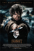 "Movie Posters:Fantasy, The Hobbit: The Battle of the Five Armies (Warner Brothers, 2014).One Sheet (27"" X 41"") DS Advance Bilbo with Sting Style. ..."