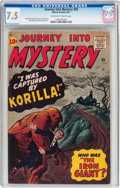 Silver Age (1956-1969):Horror, Journey Into Mystery #69 (Marvel, 1961) CGC VF- 7.5 Off-white towhite pages....