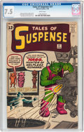 Silver Age (1956-1969):Science Fiction, Tales of Suspense #37 (Marvel, 1963) CGC VF- 7.5 White pages....