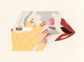 Post-War & Contemporary:Pop, Tom Wesselmann (1931-2004). Smoker, 1976. Lithograph incolors with embossing on Arches paper. 14 x 22-5/8 inches (35.6 ...