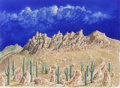 Fine Art - Painting, American:Contemporary   (1950 to present)  , Kelly Fearing (American, 1918-2011). West of Ozona II, 1998.Watercolor on paper with paper collage. 10-1/2 x 14-1/4 inc...