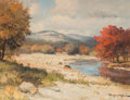 Fine Art - Painting, American:Contemporary   (1950 to present)  , Robert William Wood (American, 1889-1979). Brazos River,Texas. Oil on canvas. 12 x 16 inches (30.5 x 40.6 cm). Signedl...
